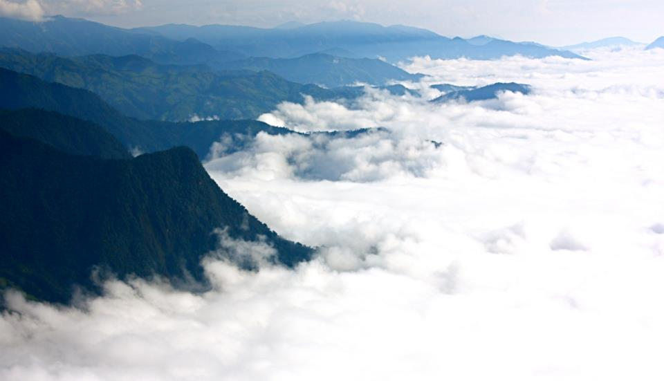 clouds over coastal andes ecuador
